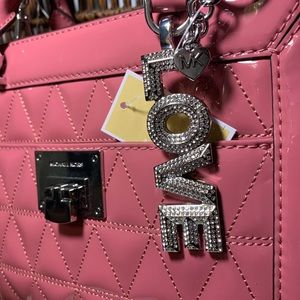 Michael Kors Bag (2 piece set) & MK key charm set